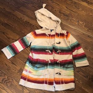 Ralph Lauren Aztec striped hooded cardigan sz xs